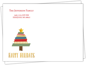 Fun Washi Tape Tree Holiday Custom Envelope