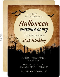 Cute Halloween Animals Halloween Birthday Party Invitation
