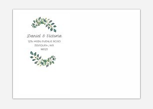 Greenery Diamond Frame Custom Envelope