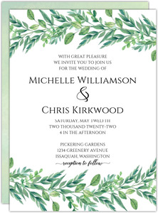 Gorgeous Foliage Wedding Invitation