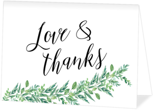 Gorgeous Foliage Thank You Card
