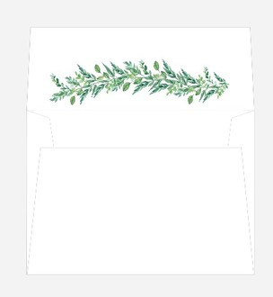 Gorgeous Foliage Envelope Liner