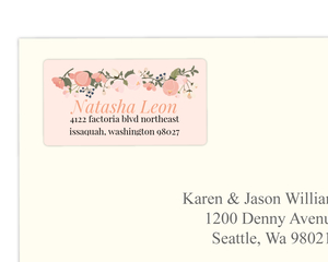 Soft Blush Pink Address Label