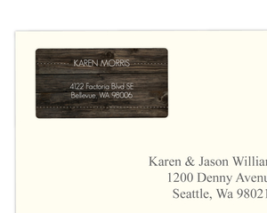 Rustic Wood Grain Celebrate Address Labels