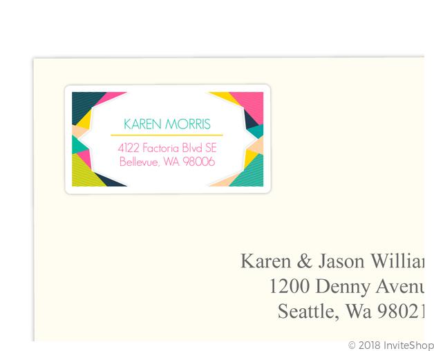 modern geometric colorful address label address labels