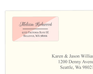 Fun Two Tone Address Label