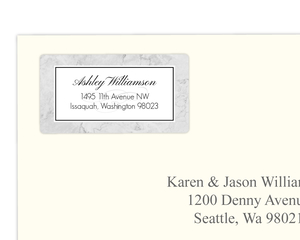 Elegant Marbled Address Labels