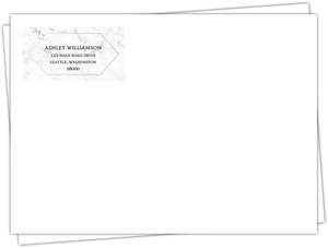 Elegant Marbled Custom Envelope