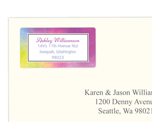 Colorful Rainbow Address Labels