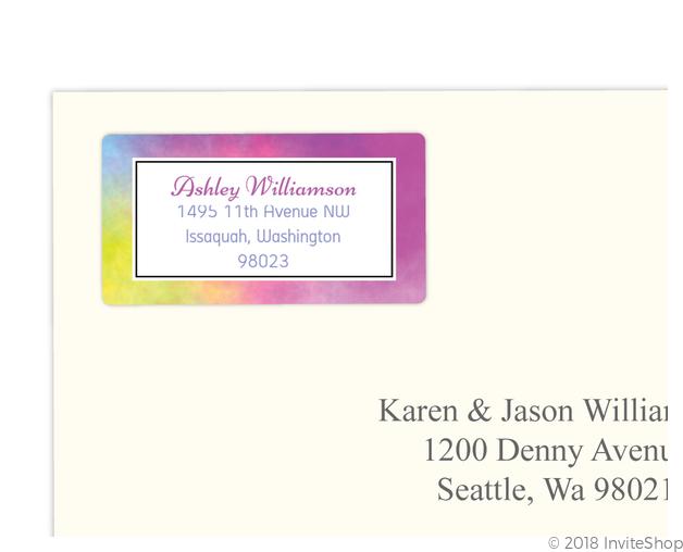 colorful rainbow address labels address labels