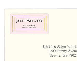 Simple Gold Frame Address Label