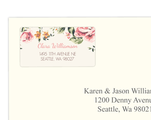 Pink Floral Address Labels