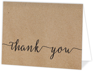 Kraft Paper Thank You Card