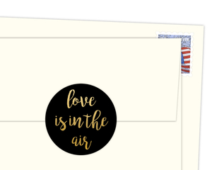 Love Is In The Air Faux Gold Foil Envelope Seal