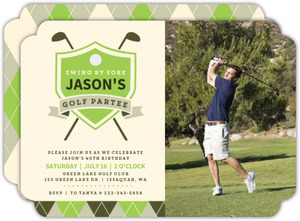 Golf Partee 40th Birthday Invitation