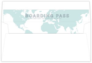 Tropical Destination Boarding Ticket Envelope Liner