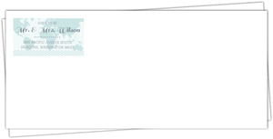 Tropical Destination Boarding Ticket Wedding Envelope
