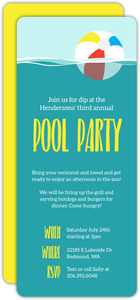 Floating Beach Ball Pool Party Invitation