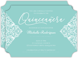 Pointy Lace Quinceanera Invitation