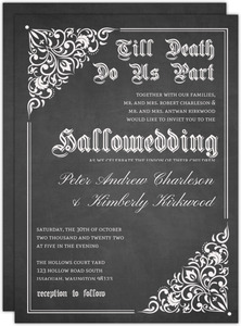 Cheap wedding invitations invite shop vintage chalkboard halloween wedding invitation filmwisefo