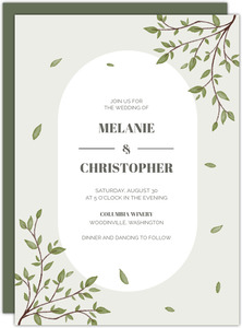 Lavender Lace Halloween Wedding Invitation