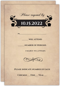 Day of the Dead Halloween Wedding Response Card