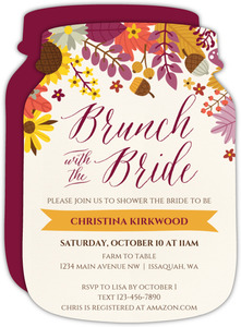 Colorful Fall Floral Bridal Shower Invitation