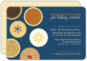 Baked Pie Contest Thanksgiving Dinner Invitation