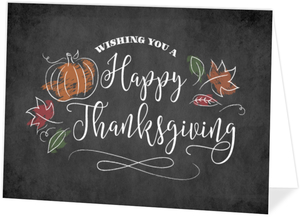 Sketch Chalk Foliage Thanksgiving Card