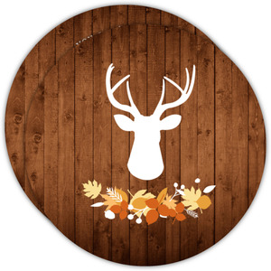Rustic Deer Thanksgiving Invitation