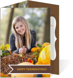 Autumn Happy Thanksgiving Trifold Invitation