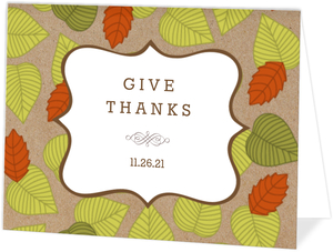 Fall Leaf Pattern Thanksgiving Invitation
