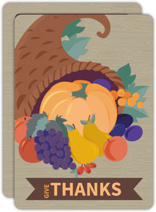 Bountiful Cornucopia Thanksgiving Dinner Party Invitation