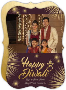 Elegant Fireworks Festive Diwali Photo Card