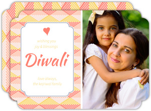 Fun Horizontal Pattern Diwali Greeting Card