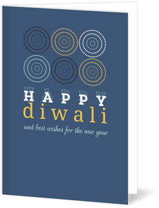 Simple Colored Circles Diwali Greeting Card