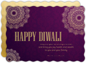 Royal Purple Festival Of Lights Diwali Card
