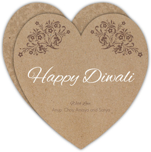 Kraft Floral Antique Diwali Greeting Card