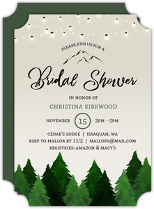 Rustic Forest Bridal Shower Invitation