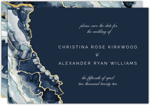 Modern Marble Ink Save The Date