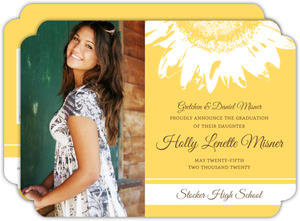 Yellow Sunflower Timeline Graduation Announcement
