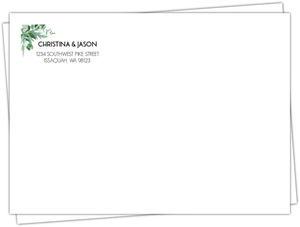 Modern Greenery Custom Envelope