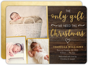 Only Gift Christmas Birth Announcement