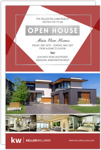 Geometric Shape Open House Business Postcard