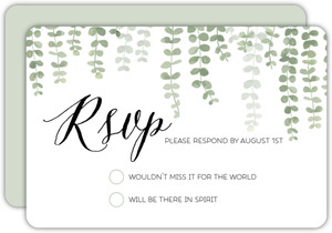 Eucalyptus Branches Wedding Response Card