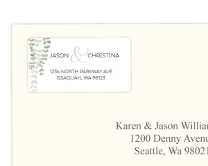 Eucalyptus Branches Address Label