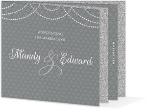 Elegant Royal Glitter Wedding Booklet Invitation