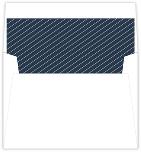 Geometric Frame Navy Leaves Envelope Liner