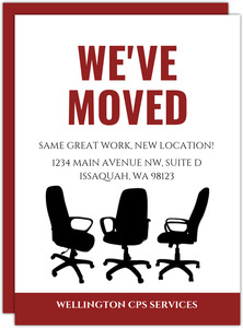 Office Chairs Business Moving Announcement