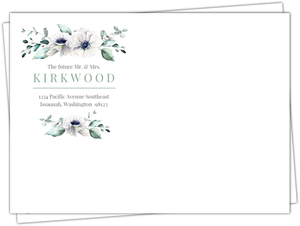 Watercolor Anemone Floral Custom Envelope